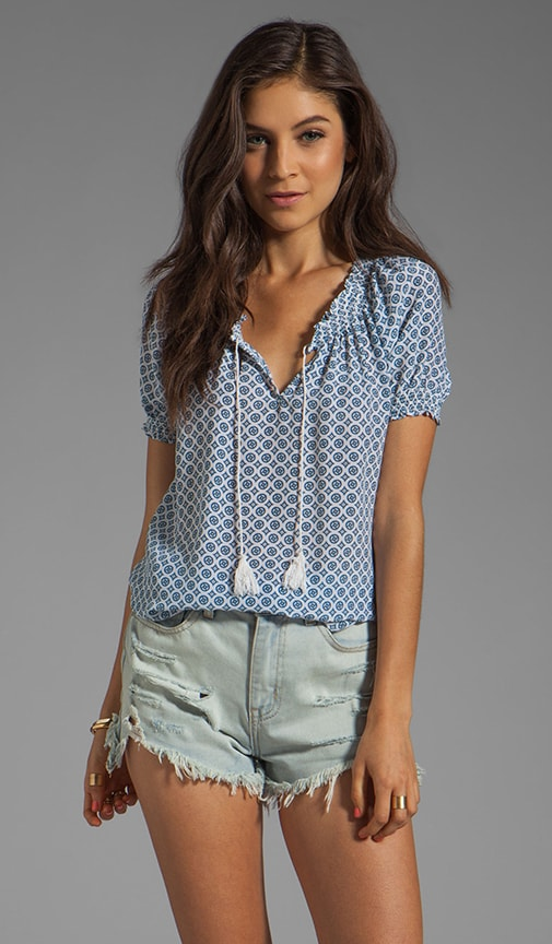 Masha Medallion Print Top