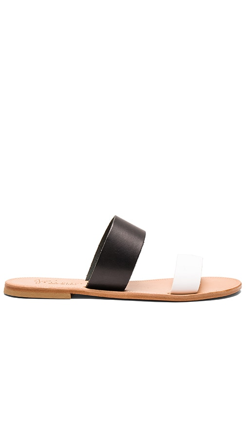 Joie Sable Sandal in Black & White