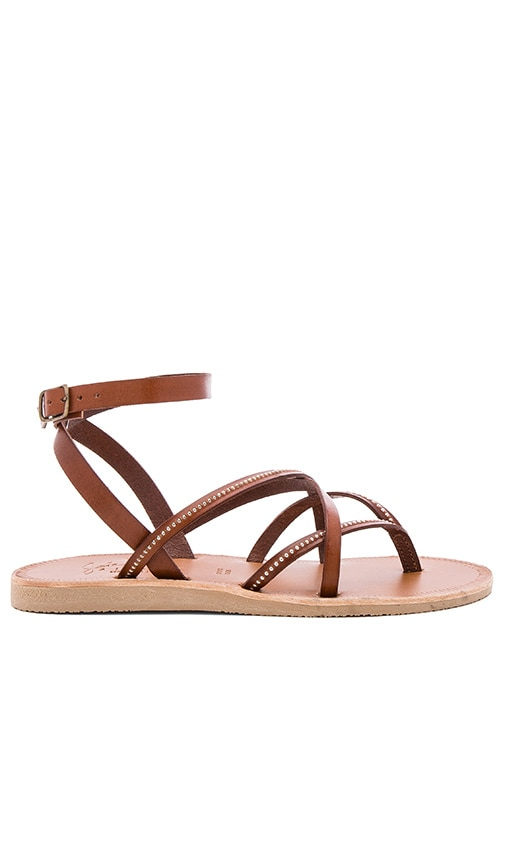 Joie Oda Sandal in Dark Brown & Silver