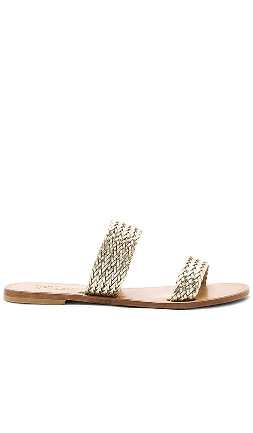Joie Sable Sandal in Metallic Gold