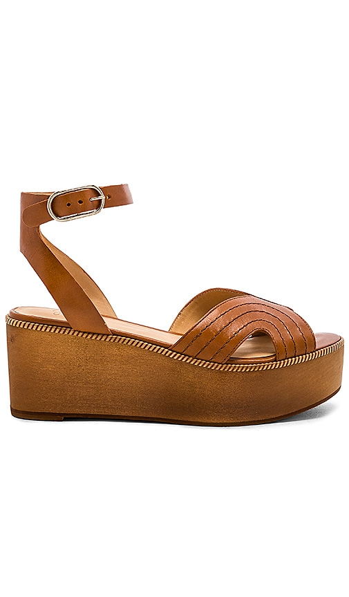 Joie Gabourey Wedge in Tan