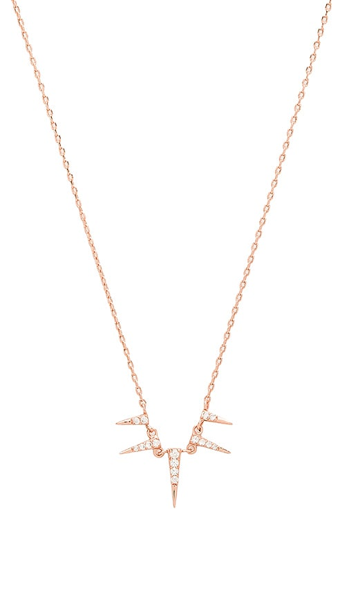 joolz by Martha Calvo Spike Necklace in Rose Gold