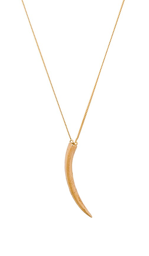 joolz by Martha Calvo Tusk Necklace in Gold