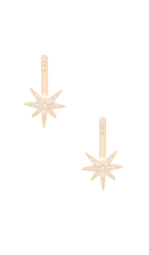 joolz by Martha Calvo Starburst Ear Jacket in Metallic Gold