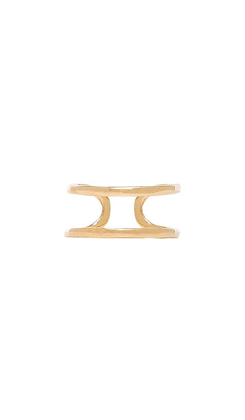 joolz by Martha Calvo Open Bar Knuckle Ring in Metallic Gold