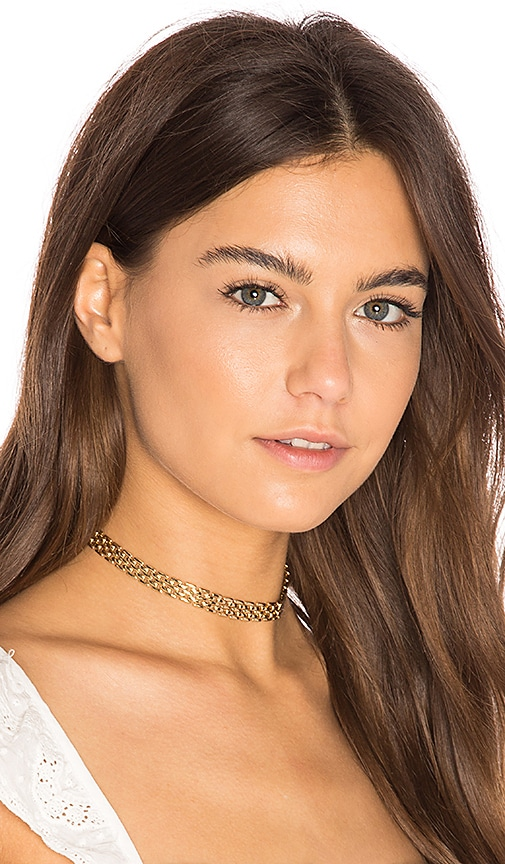 joolz by Martha Calvo Panther Link Choker in Metallic Gold