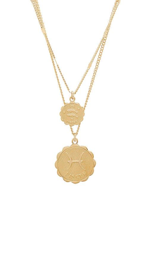 joolz by Martha Calvo Pisces Zodiac Necklace Set in Metallic Gold