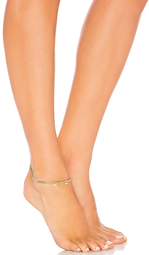 joolz by Martha Calvo Starburst Anklet in Gold
