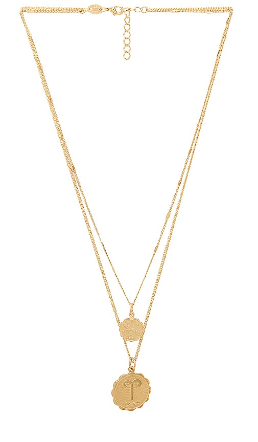 Aries Zodiac Necklace in Gold Joolz by Martha Calvo eHfDyA
