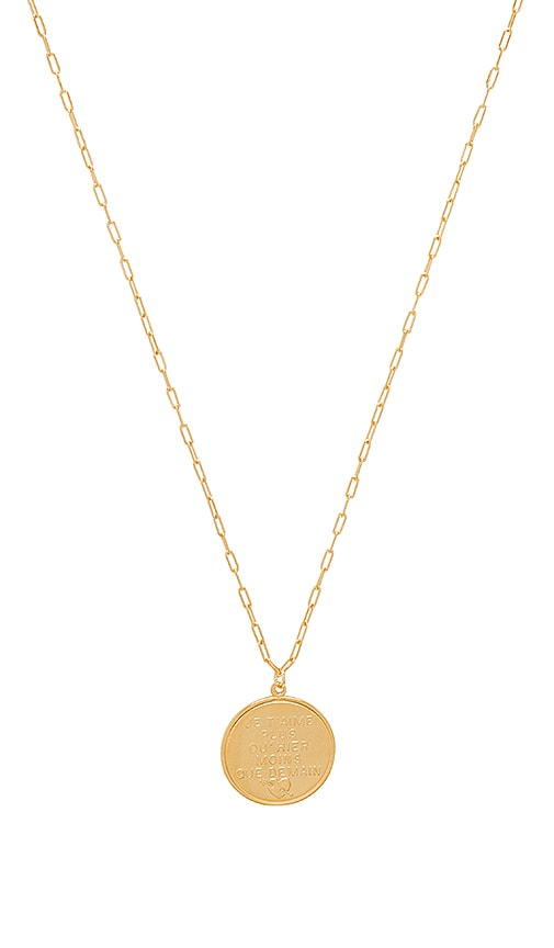 French Quote Disc Necklace