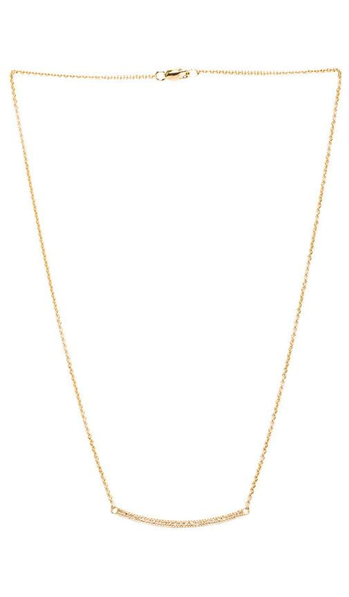 Diamond Curved Pave Bar Necklace
