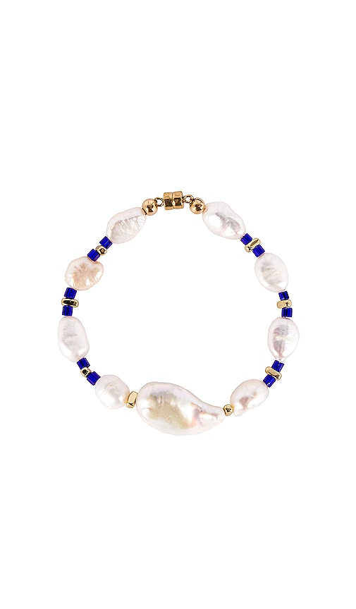 Into The Blue Pearl Bracelet