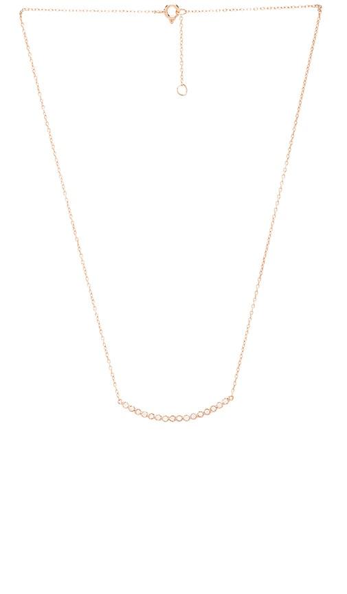 Curved Bezel Bar Necklace