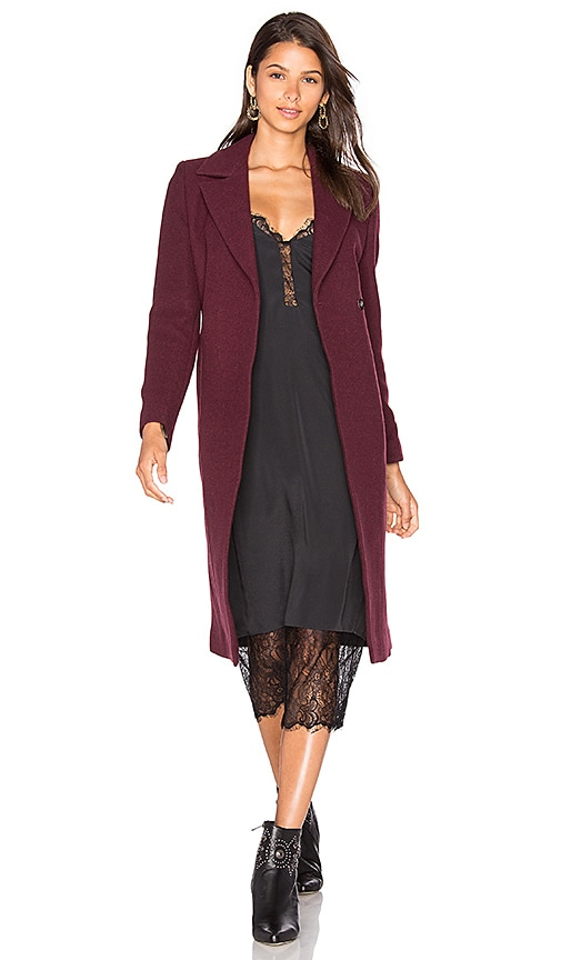 J. RYU Selina Coat in Burgundy