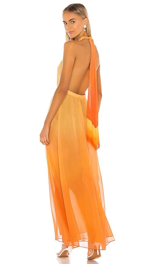 JONATHAN SIMKHAI Ombre Halter Maxi Dress in Amber Ombre   REVOLVE