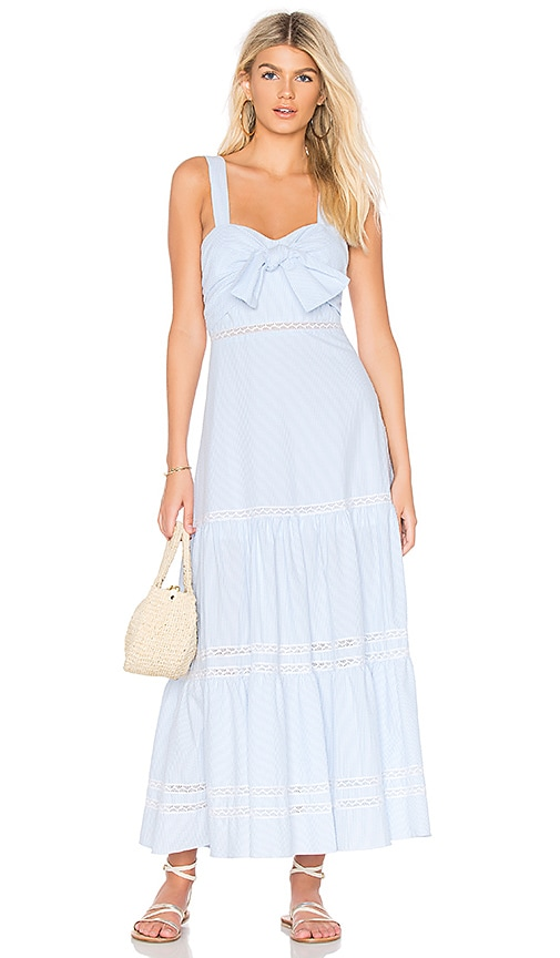 JONATHAN SIMKHAI Tiered Maxi Dress in Baby Blue