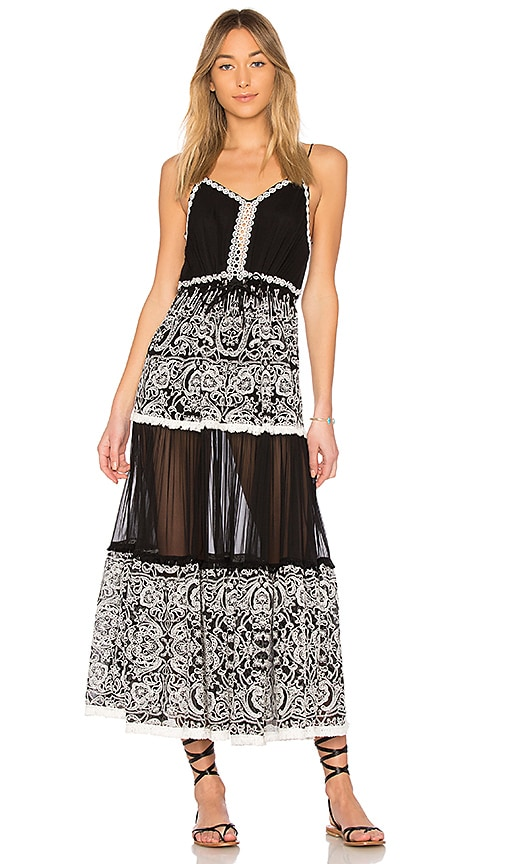 JONATHAN SIMKHAI Embroidered Maxi Dress in Black