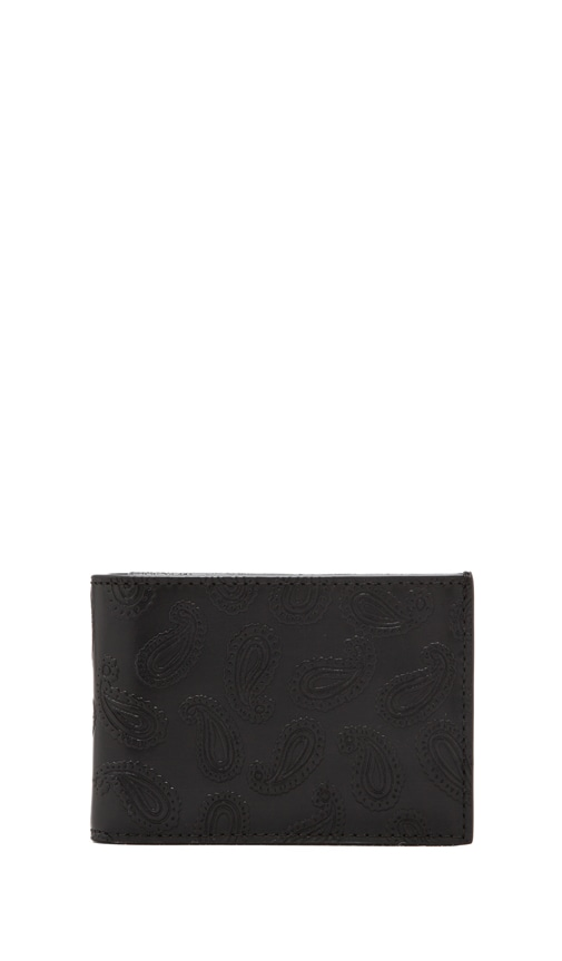 Embossed Paisley Index Wallet