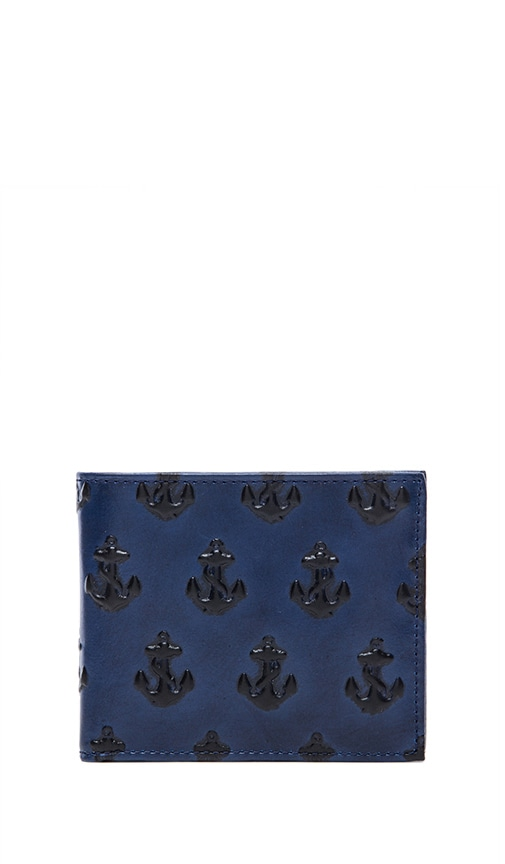 Embossed Anchor Bill Holder Wallet