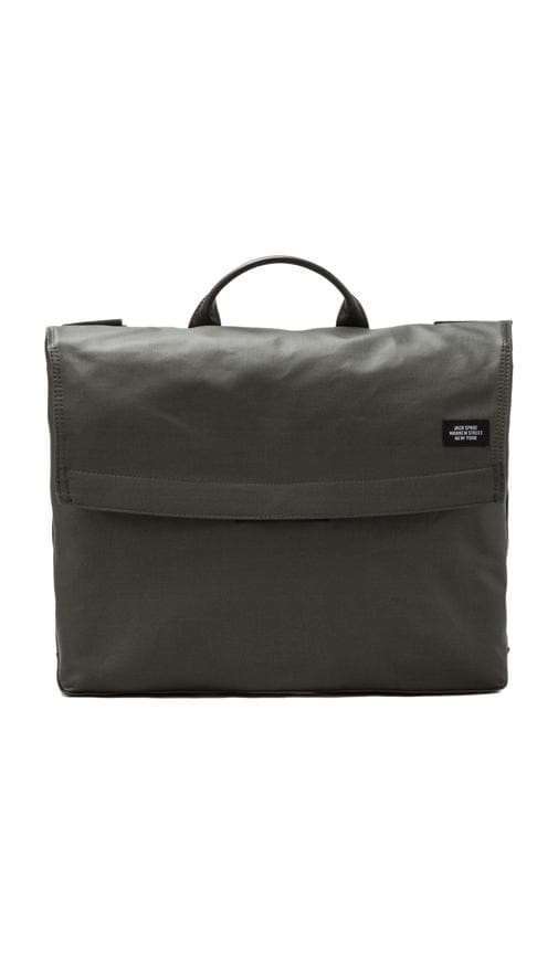 Coated Canvas Folded Messenger