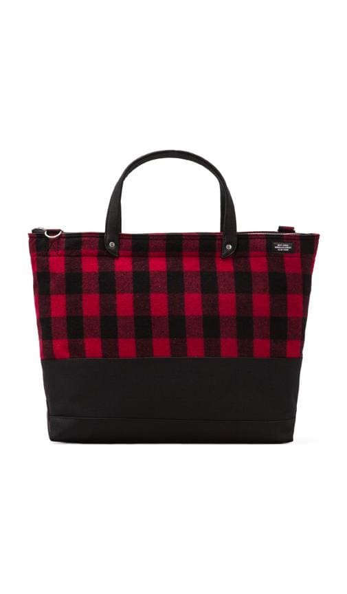 Buffalo Check Zip Coal Bag
