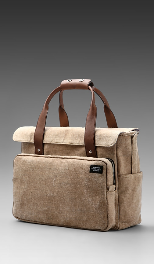 Stone Burlap Survey Bag