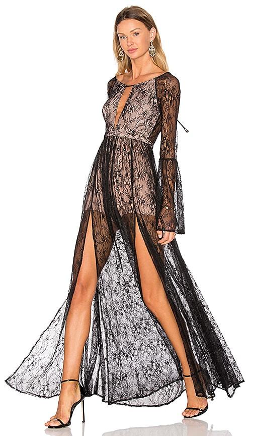 THE JETSET DIARIES Majestic Maxi Dress in Black