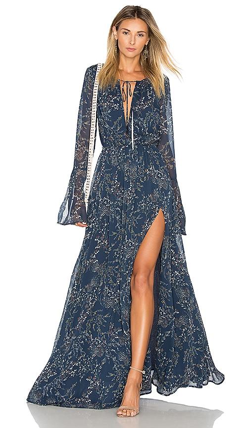 THE JETSET DIARIES Mediterranean Maxi Dress in Blue