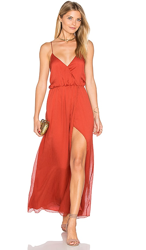 THE JETSET DIARIES Ara Maxi Dress in Rust