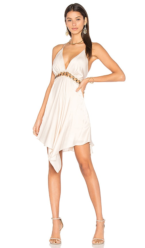 THE JETSET DIARIES Vespero Mini Dress in Beige