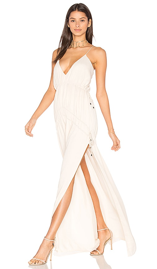 THE JETSET DIARIES Cruise Maxi Dress in Beige