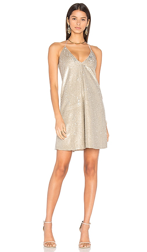 THE JETSET DIARIES Diamond Dress in Beige