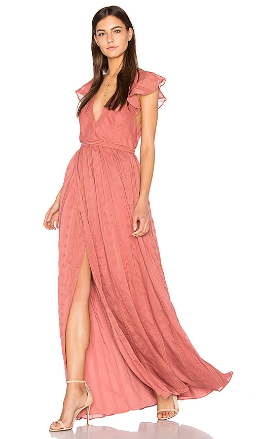 THE JETSET DIARIES Getaway Maxi Dress in Pink