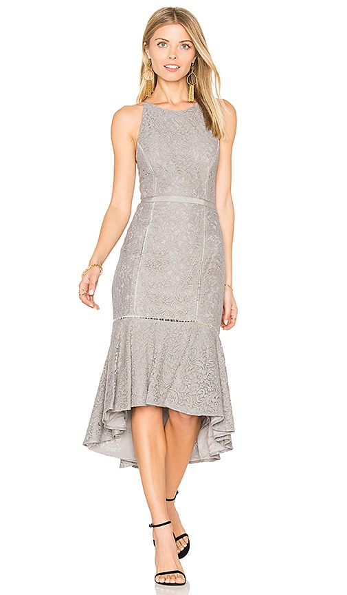 THE JETSET DIARIES Constance Midi Dress in Gray