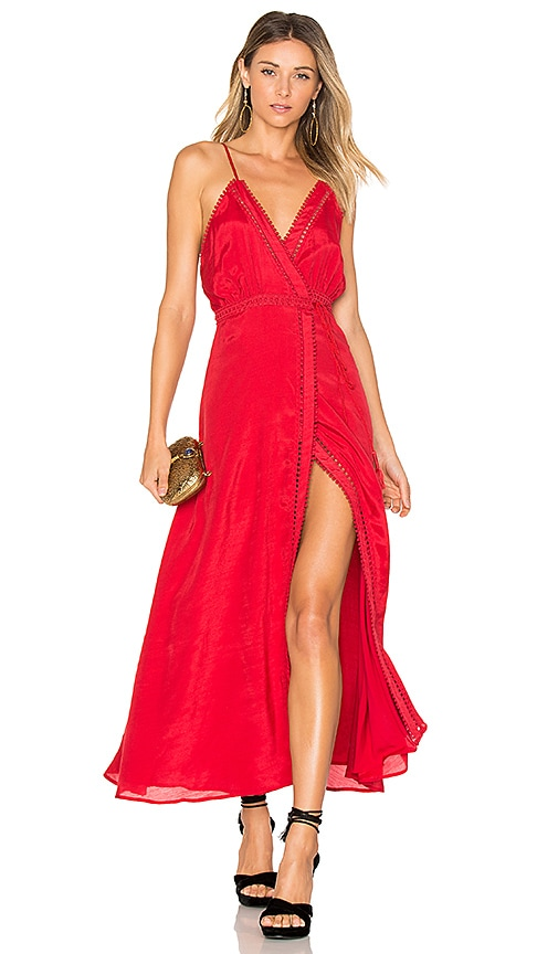 THE JETSET DIARIES Regla Maxi Dress in Red