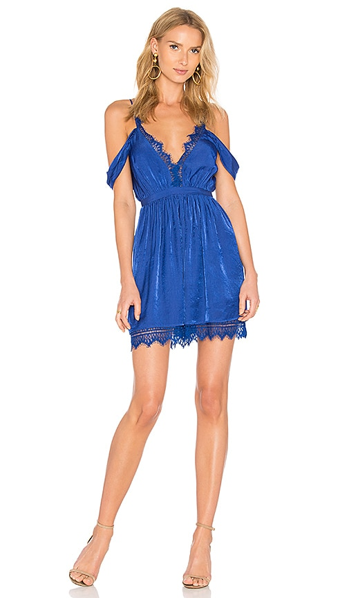 THE JETSET DIARIES Bamako Escape Mini Dress in Blue