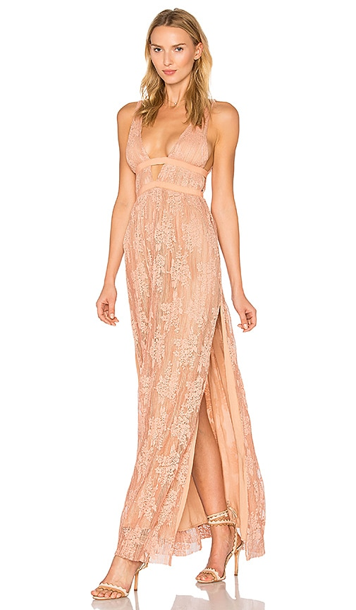 THE JETSET DIARIES Gabrielle Maxi Dress in Coral