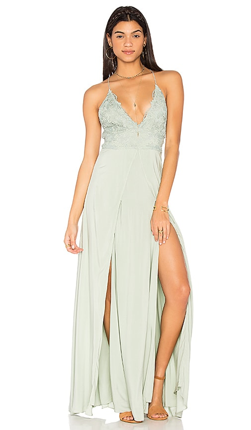 THE JETSET DIARIES Ayanna Maxi Dress in Green