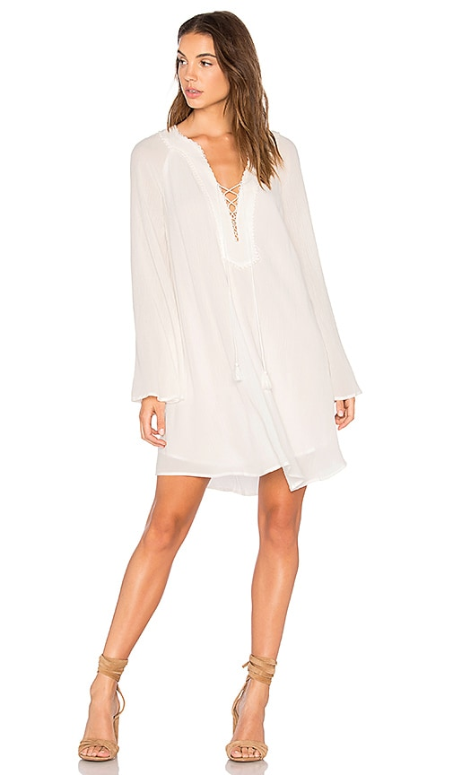 THE JETSET DIARIES Golden Island Mini Dress in White