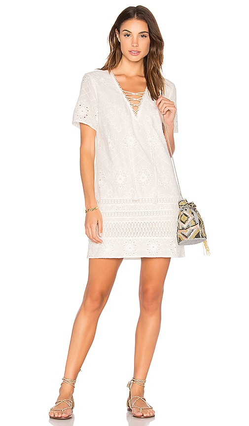THE JETSET DIARIES Adriatic Shift Dress in White