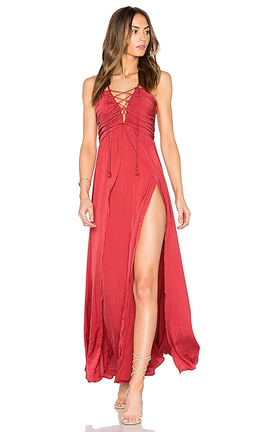 THE JETSET DIARIES Karisimbi Maxi Dress in Red