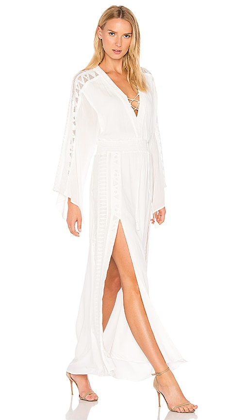 THE JETSET DIARIES Cirrus Maxi Dress in White