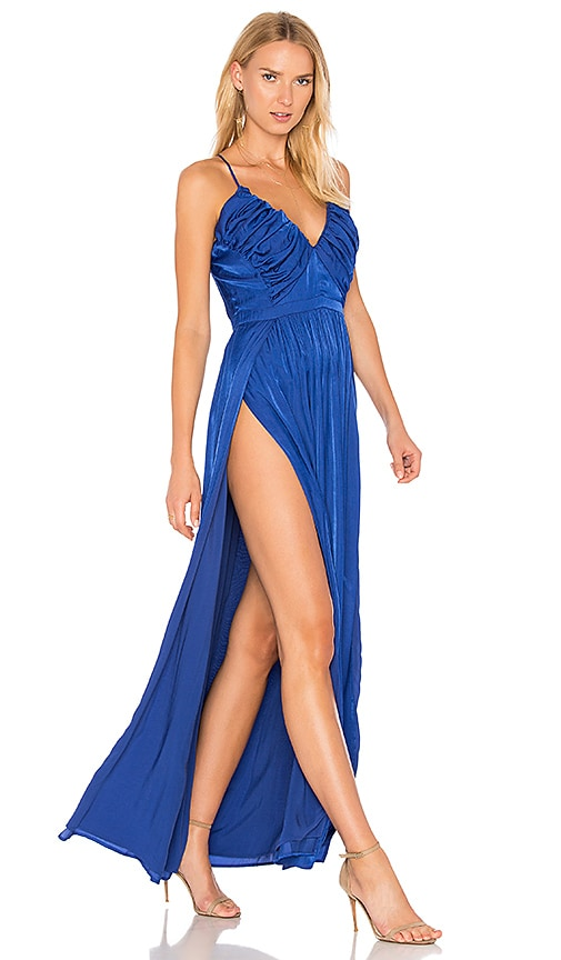 THE JETSET DIARIES Bamako Escape Maxi Dress in Royal
