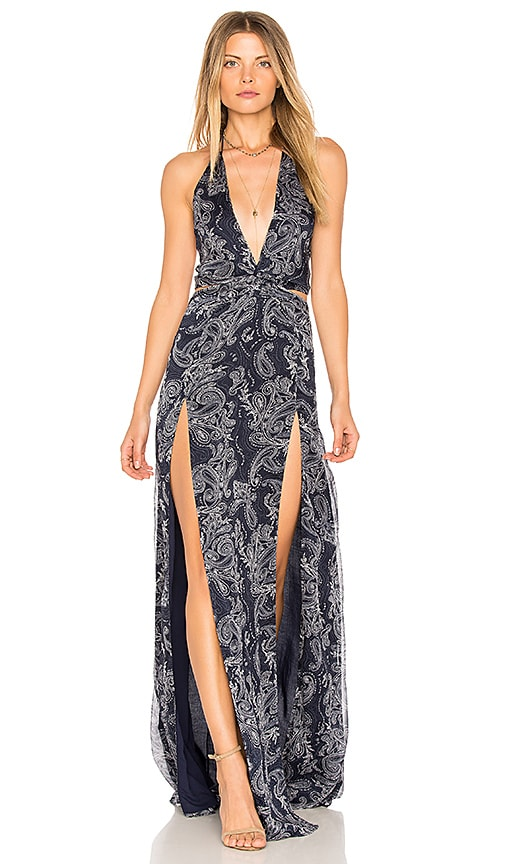 THE JETSET DIARIES Cut out Maxi Dress in Navy
