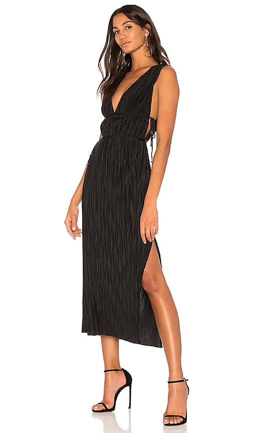 THE JETSET DIARIES Kiara Midi Dress in Black