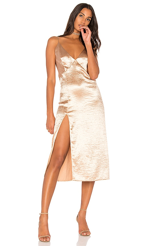 THE JETSET DIARIES Mirabella Slip Dress in Metallic Gold