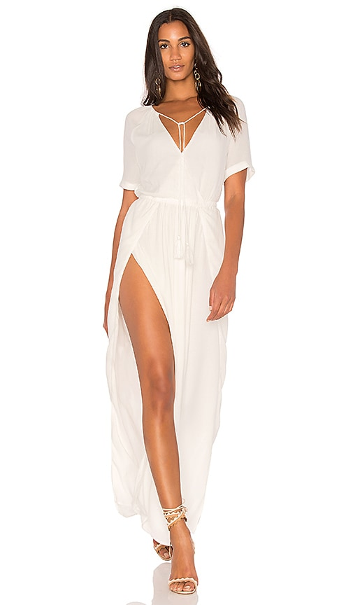 THE JETSET DIARIES Tanzania Maxi Dress in White