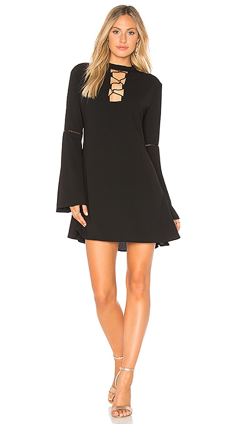 THE JETSET DIARIES Hiatus Mini Dress in Black
