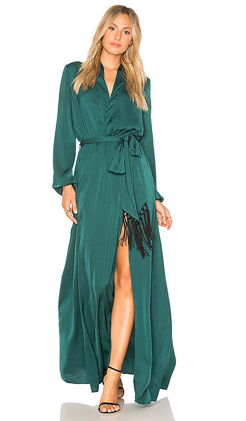 THE JETSET DIARIES Songbird Maxi Dress in Green