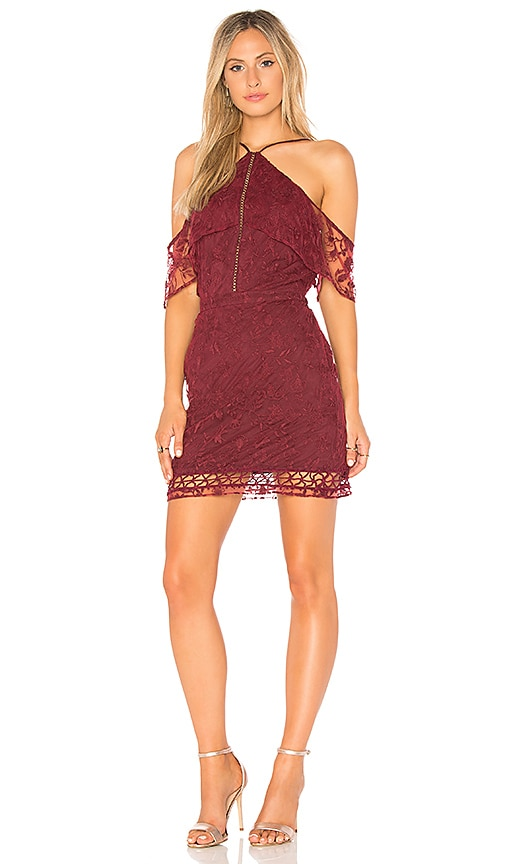 THE JETSET DIARIES Willow Mini Dress in Wine